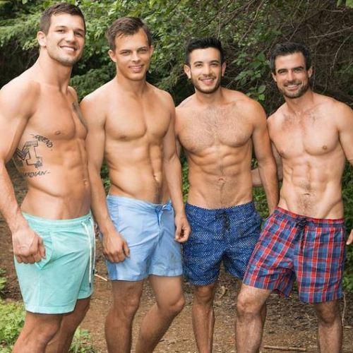 Sean Cody : 豪華プエルトリコ・ロケ編 ジャングルのぐっちょ、ぐっちょの大自然の淫乱乱交Brysen, Daniel, Manny, Jayden