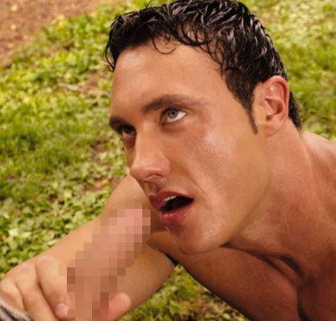 Falcon Studios : 「The Farmer's Son」でノンケのイケメン Jason Adonisのバージンアナルを Erik Rhodesの巨根が優しく激しく.. !を