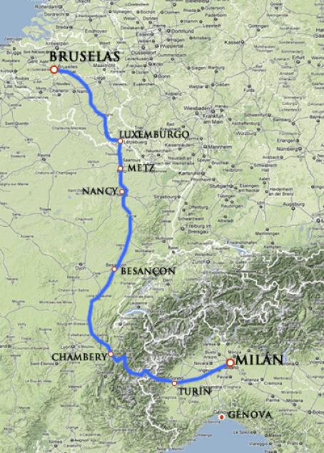 TSR_rutas I-II-III-IV de milan-bruselas