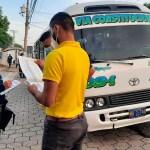 PNC sanciona unidad de la ruta 109 por alza ilegal a la tarifa del pasaje