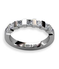 alliansring prinsesslipade diamanter
