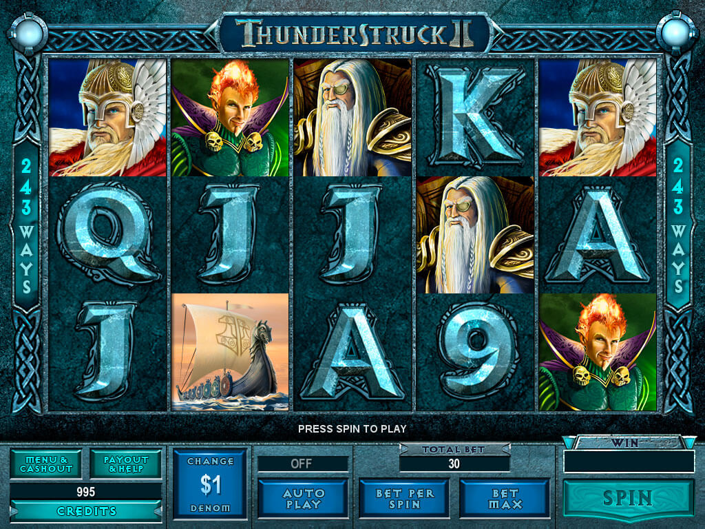 Spilleautomater thunderstruck ii