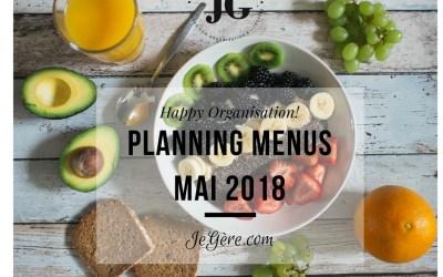 Planning Menus Mai 2018