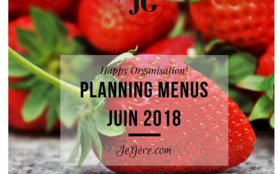 Planning Menus Juin 2018