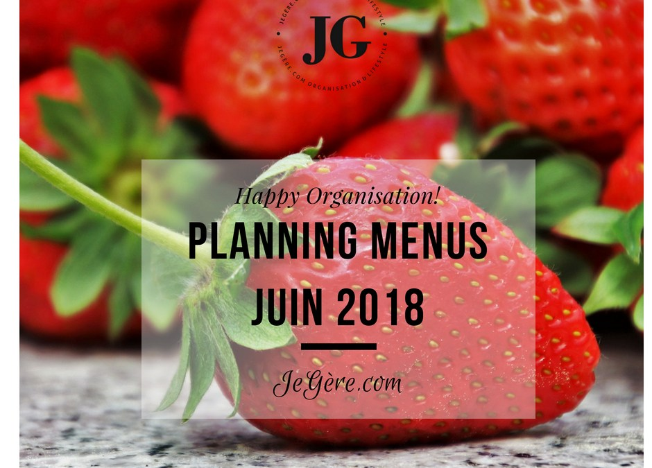 Planning Menus Juin 2018