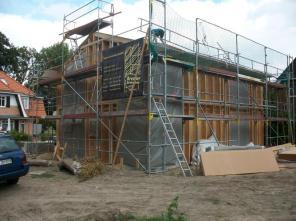 KfW 70 Haus Neubau, 1. Montagetag