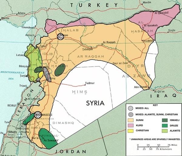 syria etnic map