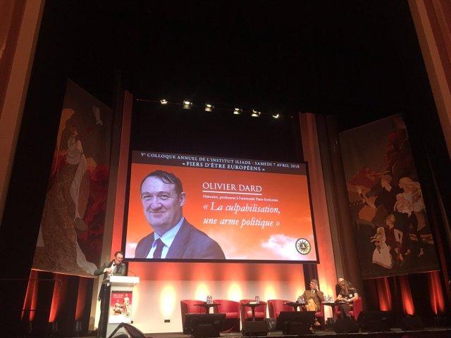 Olivier Dard le 7 avril 2018 au colloque annuel de l'Institut Iliade