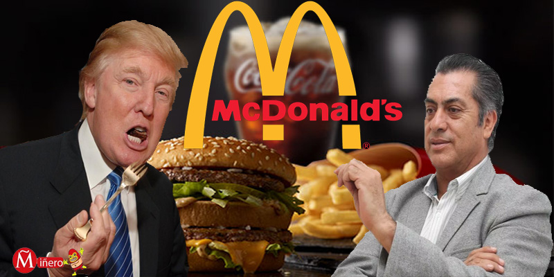 El Bronco invita Trump a Mcdonalds