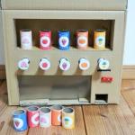ダンボール自動販売機の作り方|手作りした材料や仕組み・図面など