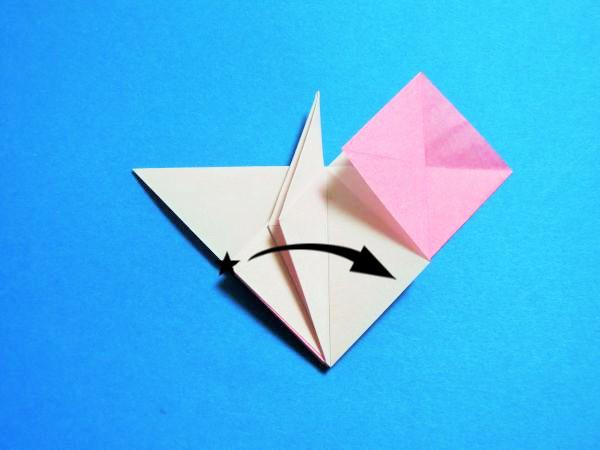 ハートと鶴が1つになったかわいい折り紙の折り方と作り方