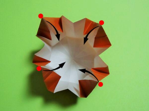ハロウィン用のお菓子入れの折り方|折り紙で立体かぼちゃを手作り