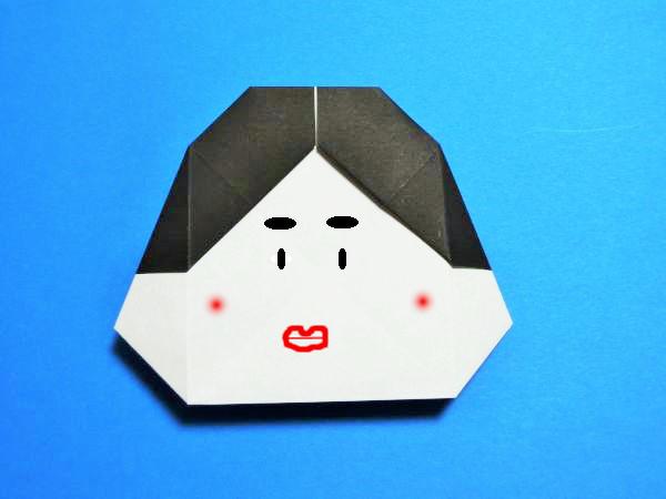 折り紙で節分のおかめの折り方・作り方|お多福・福の神