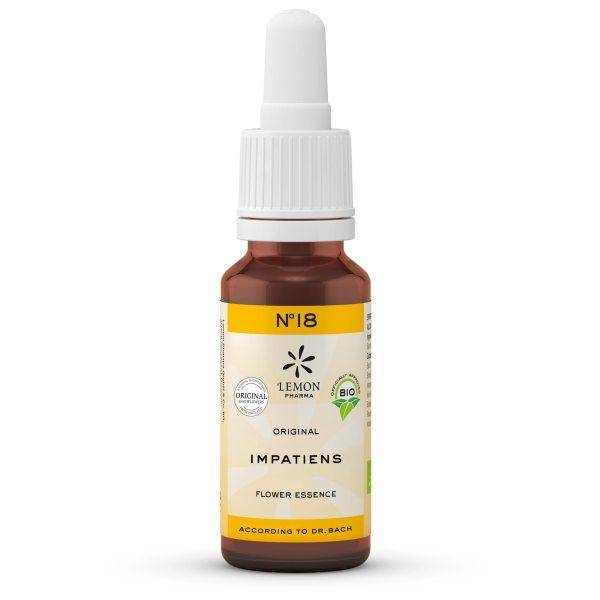 Lemon Pharma Original Bachblüten Tropfen Nr 18 Impatiens Drüsentragendes Springkraut Inneren Ruhe