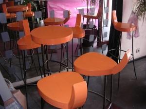 参考になるおうちカフェインテリア オレンジのキーカラー