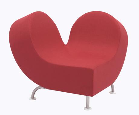 ピンクのハート型ソファがカワイイ!JOLY COEUR01