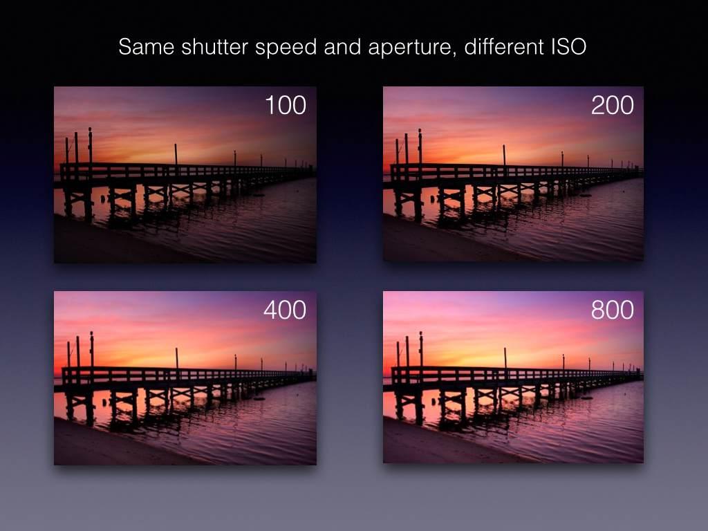 ISO fotografia - cambio valori