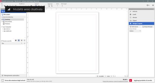 Screenshot piano di lavoro software Saal-Digital