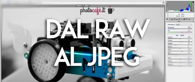 Come convertire RAW in JPEG velocemente