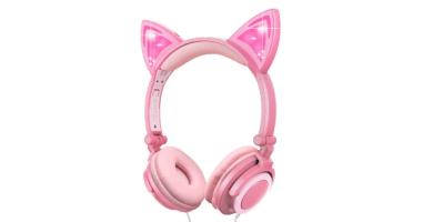 Auriculares Orejas de Gato,Cascos niña