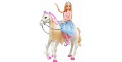 Barbie - Princess Adventures Prance y Shimmer Caballo