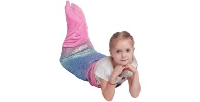 softan Manta de Cola de Sirena para niños