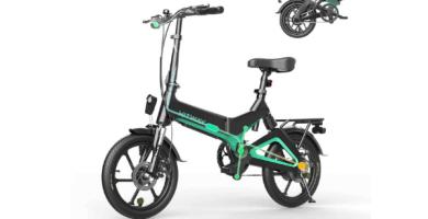 HITWAY Bicicleta eléctrica plegable urbana