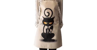 ShopINess Delantales Gato (enfadado, 68x55 cm) Tamaño Adultos