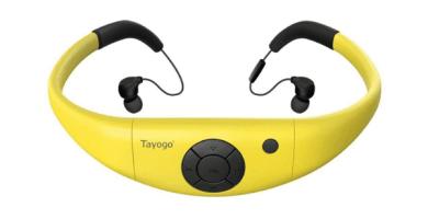 Tayogo Mp3 Acuatico Ipx8, Auriculares De Natación De 8gb con Bluetooth 4.2 FM