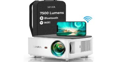 Proyector WiFi Bluetooth 1080P, YABER V6 7500 Lúmenes