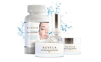 Le système de soins cutanés Auvela c'est une combinaison de 4 produits de soins cutanés antivieillissement.