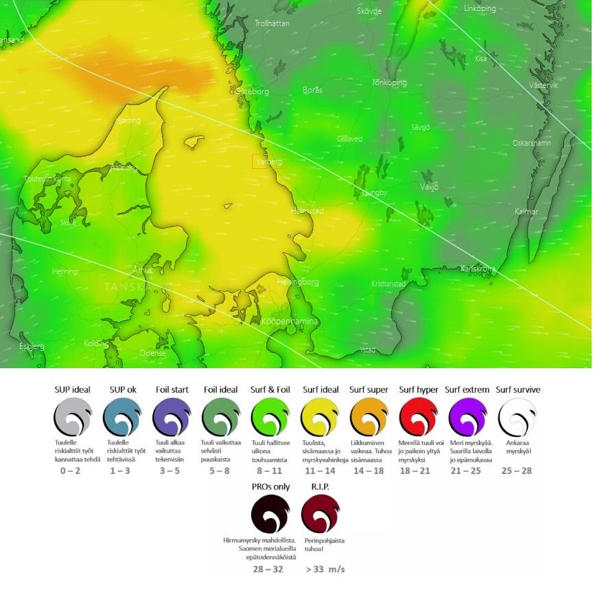 Varberg esimerkki hvyästä ennusteesta