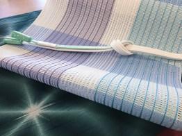 博多織の粗紗八寸帯(市松)