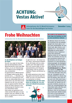 Vestas Infoblatt Dezember 2014