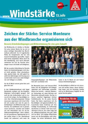 Windinfoblatt Ausgabe 8 im Januar 2015