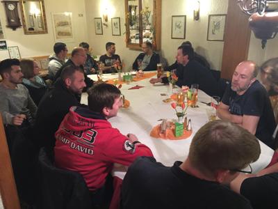 Diskussionen am Vorabend in Mannheim...
