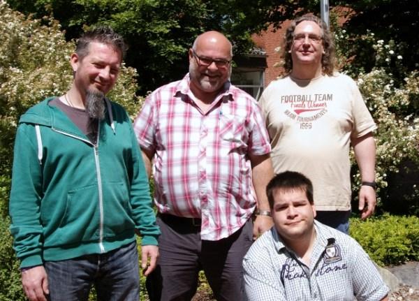 v.l.n.r.: Holly, Jürgen, Kevin und Jürgen