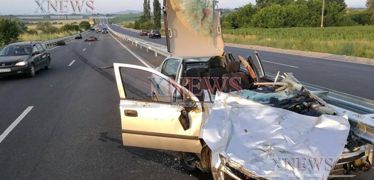 Тежка катастрофа взе две жертви, кола насмете биволи (ВИДЕО)