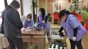 Започна раздаването на дезинфектанти на домоуправителите в Хасково