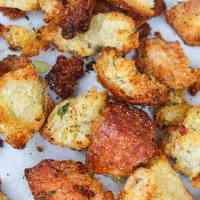 Homemade Garlic Butter Croutons