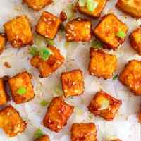 Spicy Honey Garlic Tofu Bites