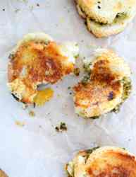 easy mini grilled cheese appetizers on a white background