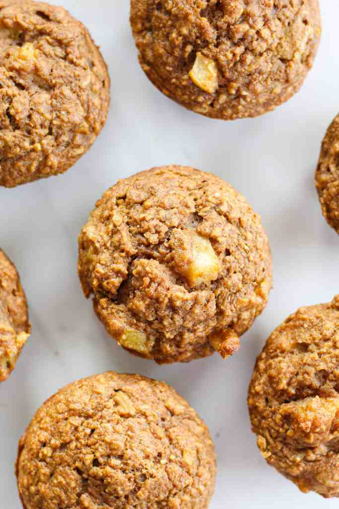 healthy morning muffins with pear and cardamom