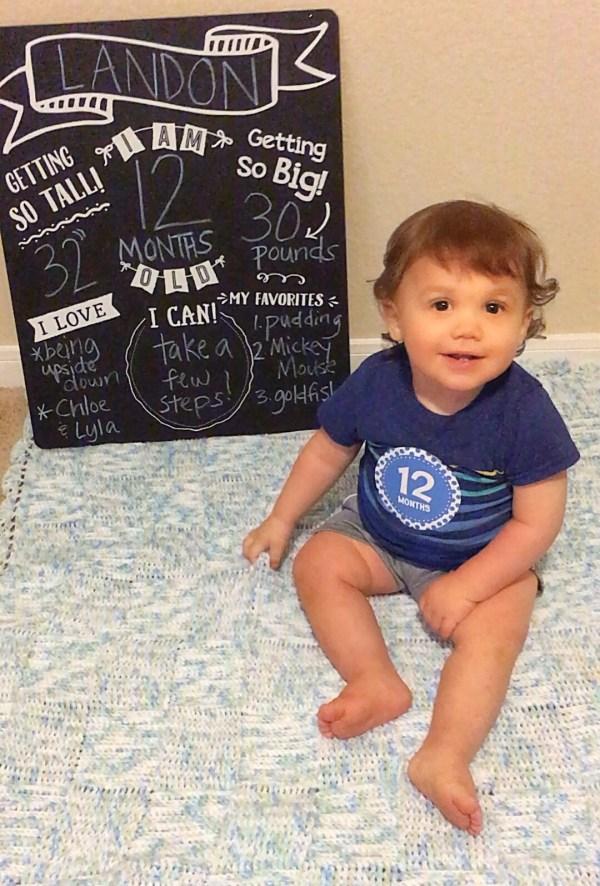 Landon 12 months