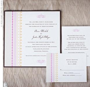 Pink Striped Invitations