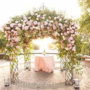 Pink Floral Huppah