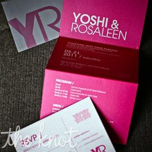 Hot Pink Modern Invitations