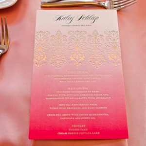 Ombre Pink Menu Cards