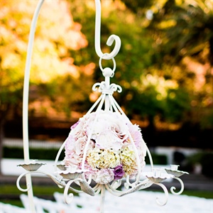 Floral Pomander Chandelier
