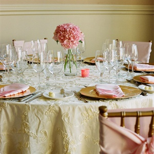Pink and Gold Reception Decor